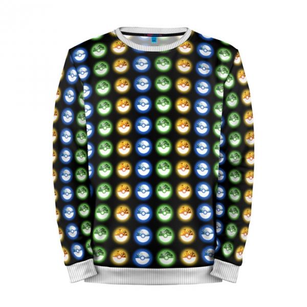 Buy Mens Sweatshirt 3D: Pokeballs Color Pokemon Go merchandise collectibles