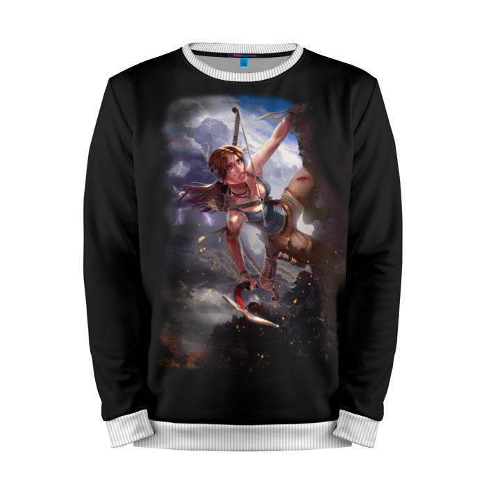 Buy Mens Sweatshirt 3D: Tomb raider Lara Croft Game art merchandise collectibles
