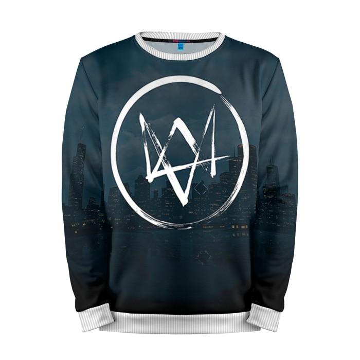 Buy Mens Sweatshirt 3D: Watch Dogs 2 Logotype merchandise collectibles