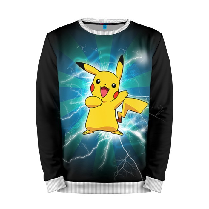 Buy Mens Sweatshirt 3D: Flash Pikachu Pokemon Go merchandise collectibles