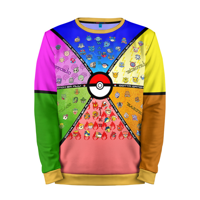 Buy Mens Sweatshirt 3D: Catch them all! Pokemon Go merchandise collectibles