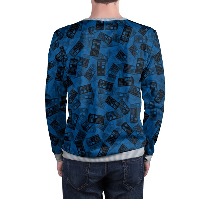 Merch Sweatshirt Doctor Who Tardis Pattern Call Box