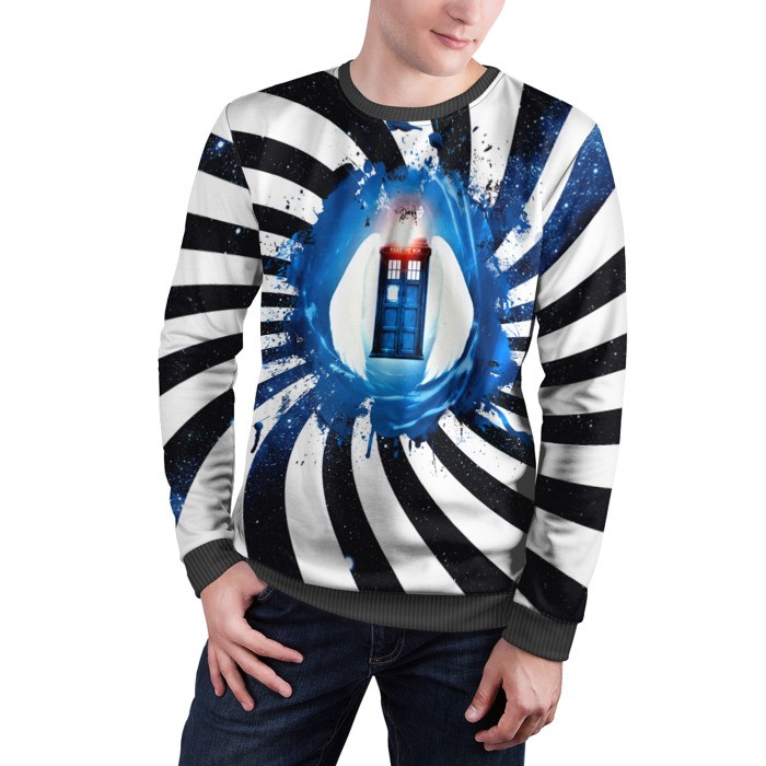 Merch Sweatshirt Tardis Doctor Who Phone Call Box