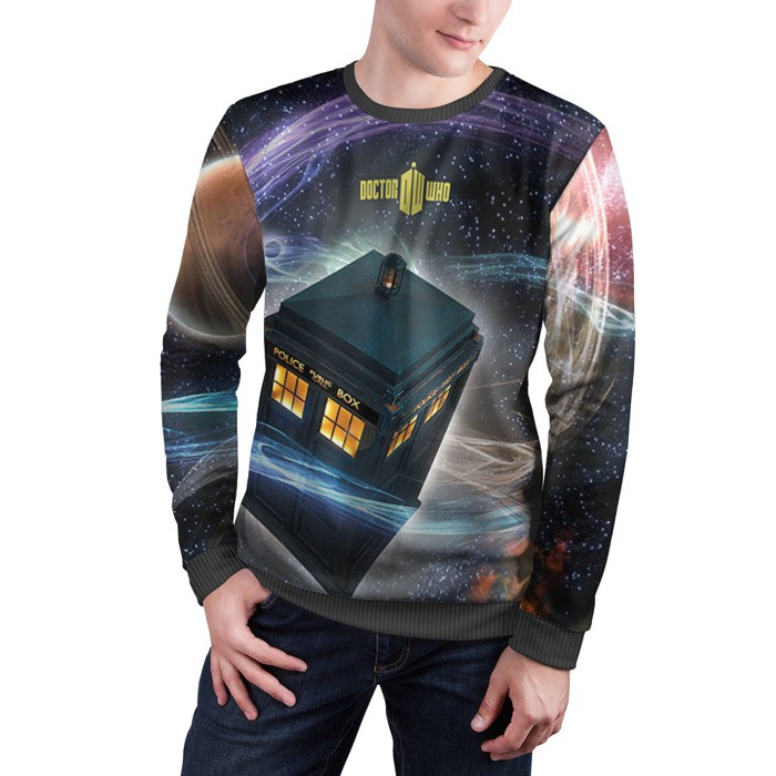Merch Sweatshirt Tardis Doctor Who Art Call Box Apparel