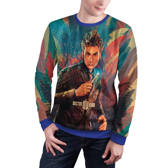 Merch Sweatshirt Doctor Who Art David Tennant Sweater
