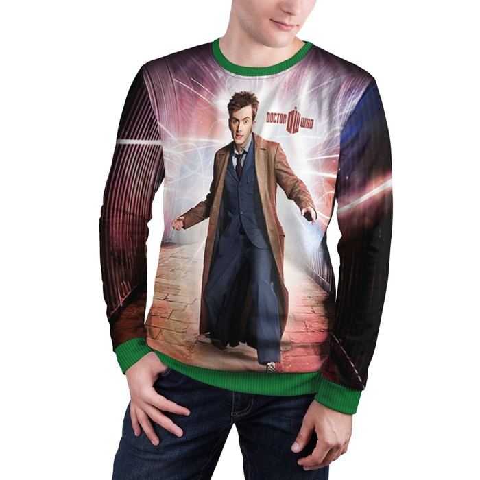 Collectibles Sweatshirt Doctor Who David Tennant 10Th Doctor Art