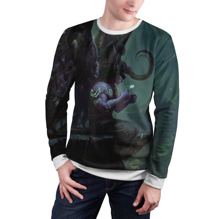Merchandise Sweatshirt Illidan Stormrage Flower World Of Warcraft