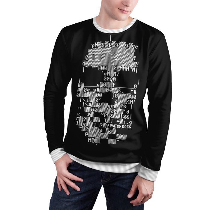 Merch Sweatshirt Watch Dogs 2 Skull
