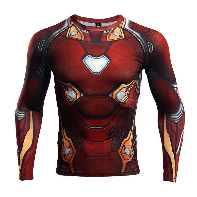 Buy Rashguard long sleeve: Iron man Infinity War 2018 Armor merchandise collectibles