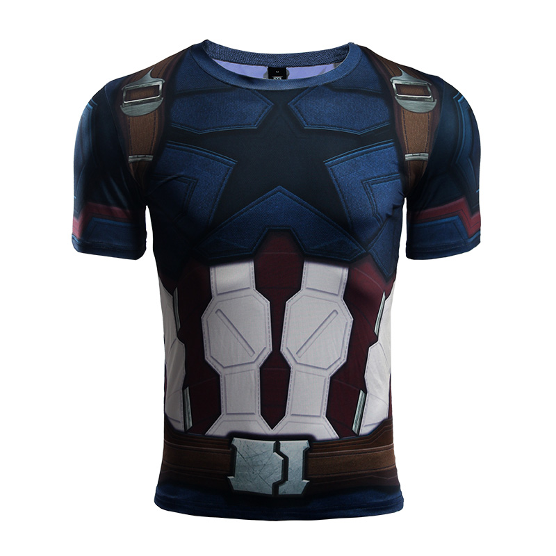 Buy Rashguard t shirt: Captan America Infinity War 2018 Gear merchandise collectibles