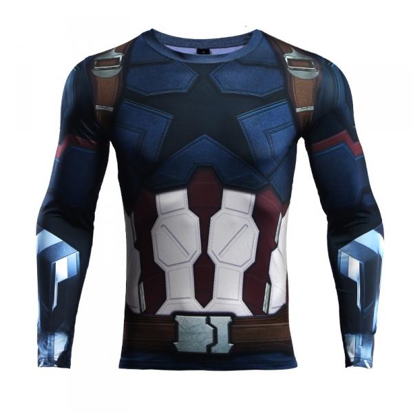 Buy Rashguard long sleeve: Captain America Infinity War 2018 merchandise collectibles