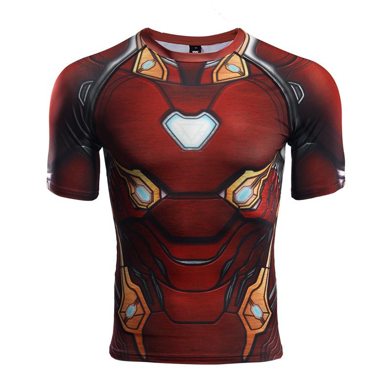 Buy Rashguard t shirt: Iron man Infinity War New Armor Mark merchandise collectibles