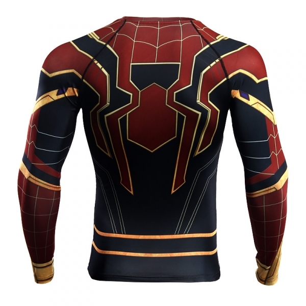 Buy Rashguard long sleeve: Iron spider spider man Infinity War 2018 merchandise collectibles