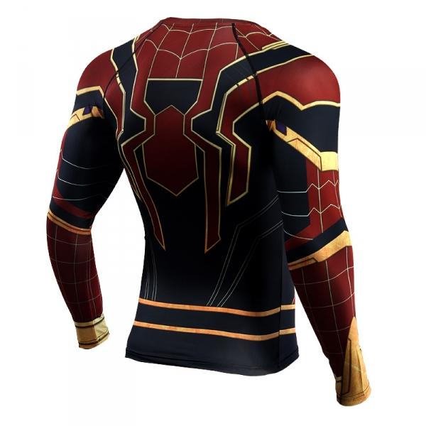 Buy Rashguard long sleeve: Iron spider man Infinity War 2018 merchandise collectibles