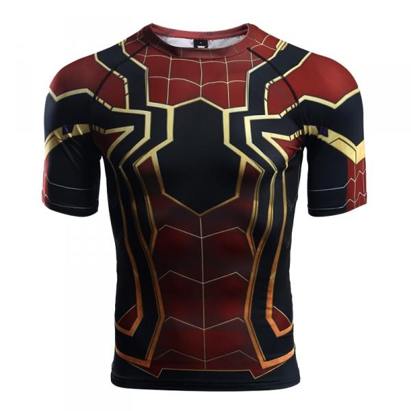 Buy Rashguard t shirt: Iron Spider man Infinity War Avengers merchandise collectibles