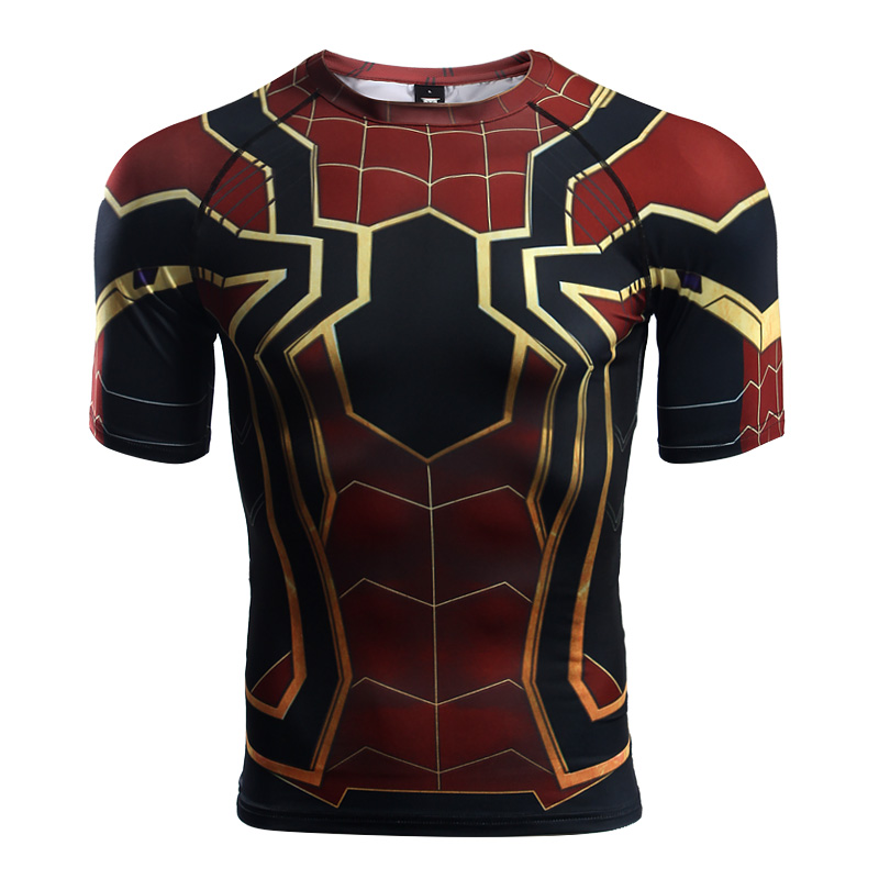 Buy Rashguard t shirt: Iron spider Spider man Infinity War Avengers merchandise collectibles