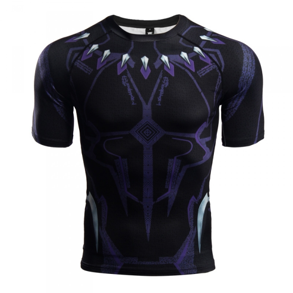 Buy Rashguard t shirt: Black Panther New Gear 2018 Infinity War merchandise collectibles