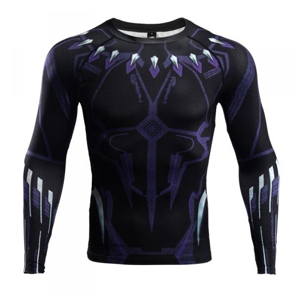 Buy Rashguard long sleeve: Black Panther Purple 2018 Gear merchandise collectibles