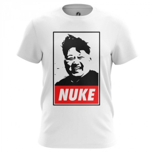 Buy Mens T shirt Nuke Kim Jong Un North Korea merchandise collectibles