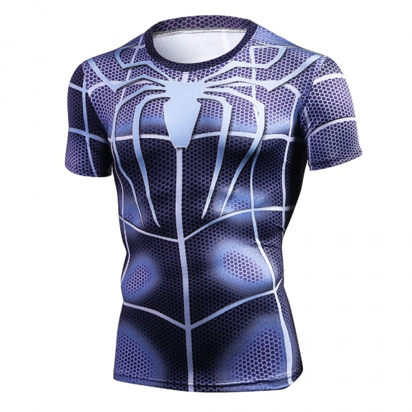 NEW 2018 Top quality compression t-shirts Superman/Batman/spider man/captain America t shirt men fitness shirts men t shirts 1