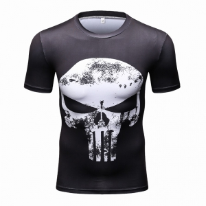 Short Sleeve 3D T Shirt Male Crossfit Tee Captain America Superman tshirt Men Fitness Compression Shirt Punisher MMA2018 1