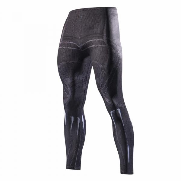 2018 Latest black panth Men Skinny Pants 3D Pattern Black Panther Bodybuilding Jogger Fitness Skinny Compression tights