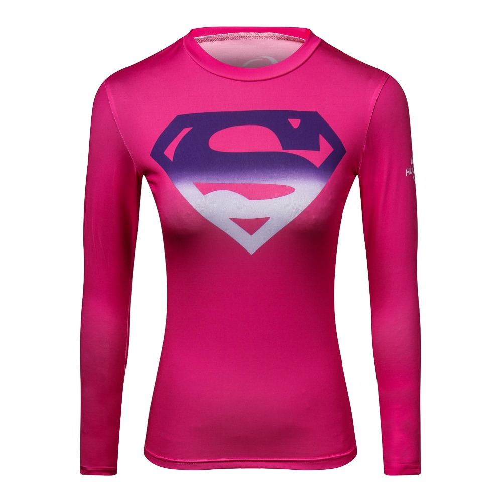 superman 3 d printed t-shirts women compression ladies long sleeve shirt Cosplay costume fitness shirt for w2018