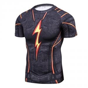 Cool Men Black Flash 3D Printing Compression Shirt Avengers Costume Comics Superhero T Shirts Youth Fitness Tights Tops & Tees 1