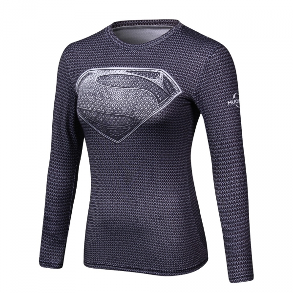2018  red flash 3 d printing T-shirt women compression ladies long sleeve clothing fitness slim women clothe