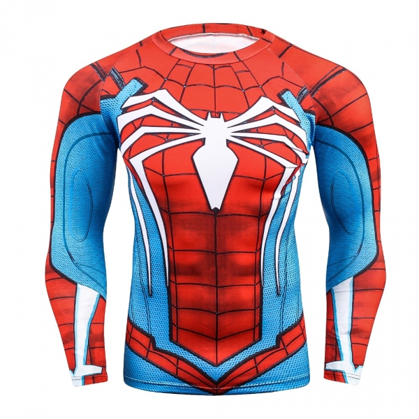 Compression shirt, men's health 3 d printing spiderman T-shirt raglan long-sleeved clothes heat joined more than 2018  men 2