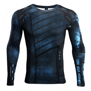 Winter Soldier 3D Printed T shirts Men Avengers 3 Compression Shirt 2018 Cosplay Costume Long Sleeve Crossfit Fitness Tops Male 1