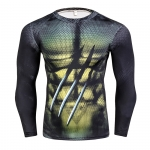 Compression Shirt, Men'S Health 3 D Printing Spiderman T-Shirt Raglan Long-Sleeved Clothes Heat Joined More Than 2018  Men 5