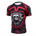 2018 Fitness Mma Compression Shirt Men Anime Bodybuilding Short Cool Skull Punisher 3D Printed T Shirt Youth High Elastic T-Shir 1