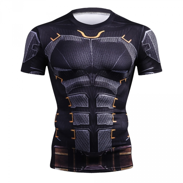 Mens Fashion T Shirt Men Compression Shirt Iron Batman Superman  Black Panther 3D Print T-Shirt Superhero Crossfit T Shirt