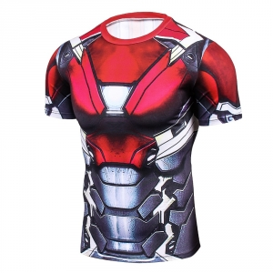 2018 Cool Ironman Advanced 3D Male Print Compression Shirt Slim Fit Skins Tight Men's Bodybuilding Crossfit Champion Shirt  1