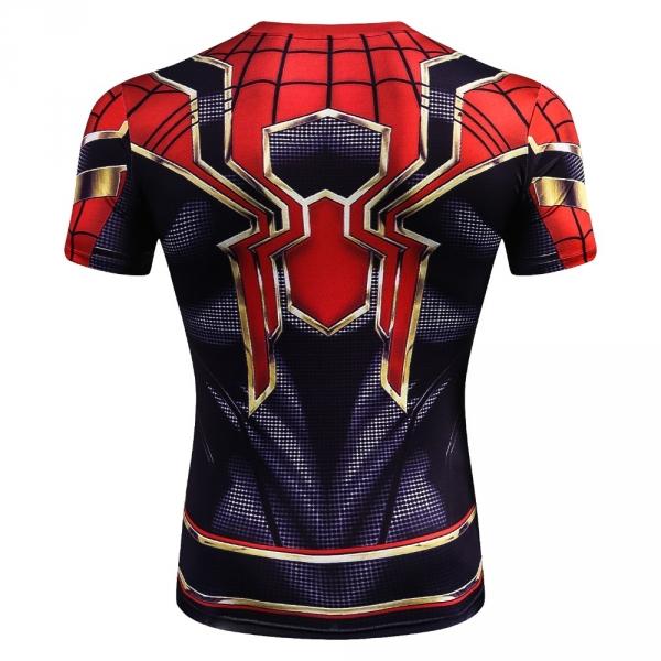 Buy T shirt Rash guard: Iron Spider Spider man Shirt Cloth Workout gear Merchandise collectibles