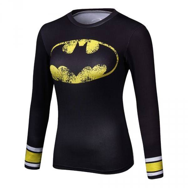 Compression Shirt Spiderman 3D Printed T Shirt Women Raglan Long Sleeve Captain America Cosplay Costume Quick Dry Tops Female 1