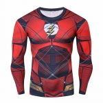 2018 Flash 3D Printed Compression Shirt T-Shirts Print Fitness Top Red Flash Cosplay Costume Fitness Movement Clothing Male Tops