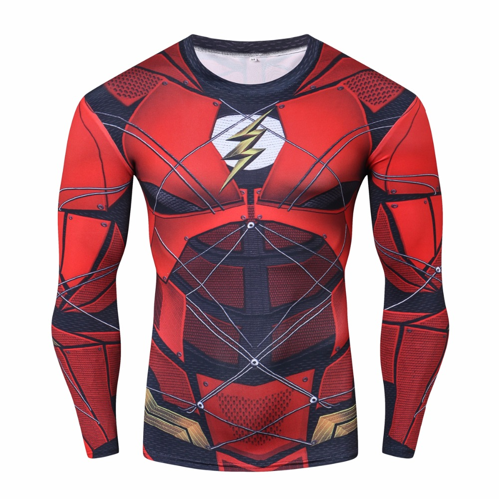Buy Long sleeve rash guard: Flash Justice League Workout Raglan for GYM merchandise collectibles