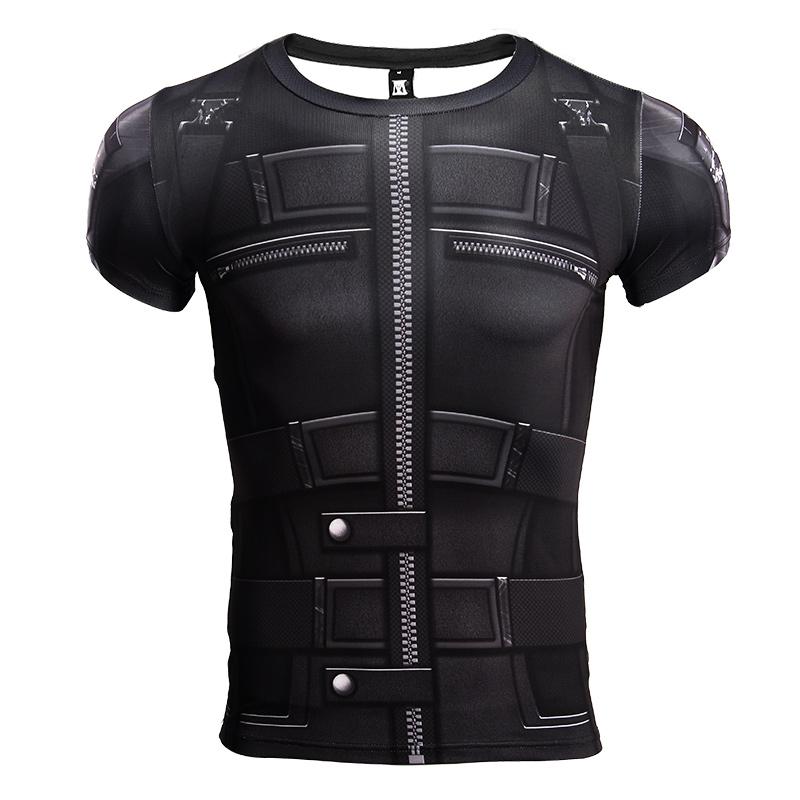 Buy Rash guard: Black Widow Costume Gear Infinity War 2018 Short sleeve Merchandise collectibles
