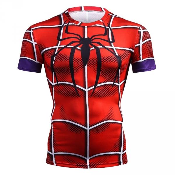 NEW 2018 Top quality compression t-shirts Superman/Batman/spider man/captain America t shirt men fitness shirts men t shirts 3