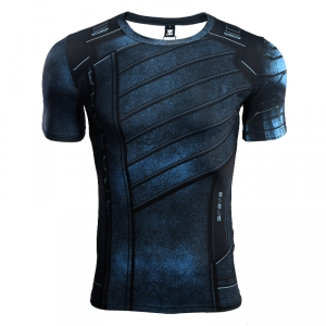 Avengers 3 Winter Soldier 3D Printed T shirts Men Compression Shirt 2018 Cosplay Costume Short Sleeve Crossfit Tops For Male