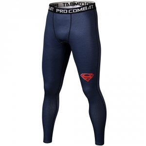 Superman 3D Printed Pattern Compression Tights Pants Men Superhero Tight Sweatpants Fitness Skinny Leggings Trousers Male Cloth