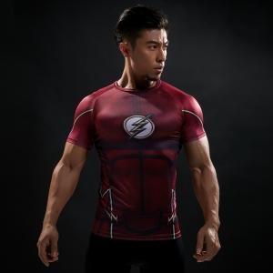 2018Compression Shirt Batman VS Superman 3D Printed T-shirts Men Raglan Short Sleeve Superhero Compression Shirt Fitness Tops 1
