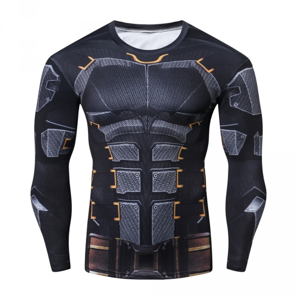 Raglan Sleeve 2018 NEW Iron Batman 3D Printed T shirts Men Fitness Shirts Crossfit Tops For Male Cosplay Costume Clothing