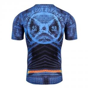 2018 New Hot Sale Slim Fit Marvel Captain Superman batman spiderman Print 3D Compression T shirt Men Thermal Tees Fitness Tights 1