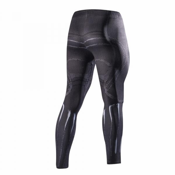 2018 Latest black panth Men Skinny Pants 3D Pattern Black Panther Bodybuilding Jogger Fitness Skinny Compression tights 1