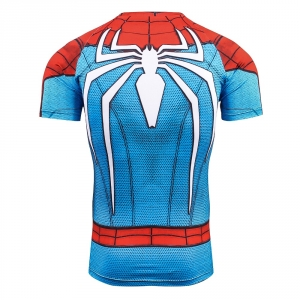 2Raglan Sleeve Compression Shirts Spiderman 3D Printed T shirts Men 2017 NEW Crossfit Tops For Male Fitness BodyBuilding Clothin 1