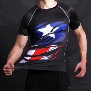 Captain America Civil War Shirt Tee 3D Printed T-shirts Men Fitness G ym Clothing Male Tops Funny T Shirt Superman Costume 1