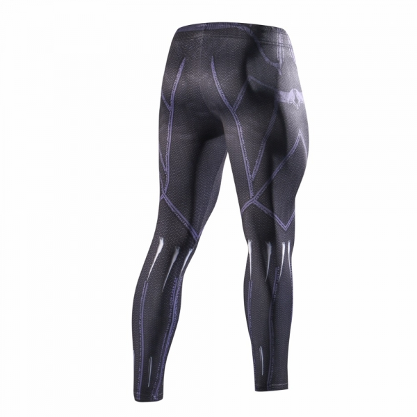 2018 Latest black panth Men Skinny Pants 3D Pattern Black Panther Bodybuilding Jogger Fitness Skinny Compression tights 3